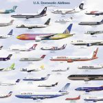 Usa Domestic Airline Chart Airlines And Aircraft Different Liveries