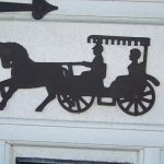 Victorian Iron Horse And Carriage