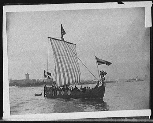 Viking Ship Travel From Norway Chicago