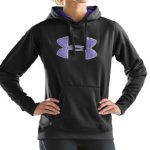 Women Armour Fleece Big Logo Hoody Tops Under