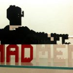 Mad Men Logo Made From Lego Amc Pinterest