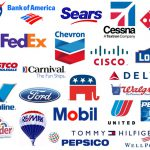 Red White And Blue Brand Logos