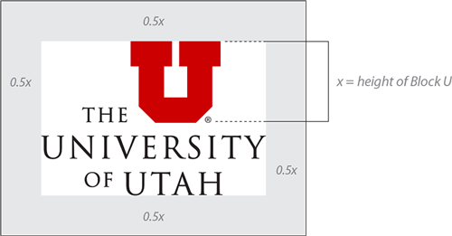 University Utah Logo Placing The Too Near