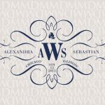 Wedding Initial Logos Elegance Calligraphy Custom Monogram