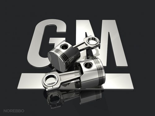 Stock Illustrations Featuring The General Motors Logo