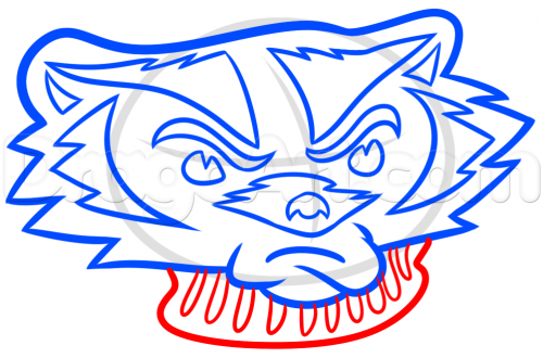 Wisconsin Badgers Logo Drawing Step Sports Pop Culture