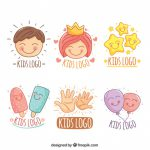 Awesome Collection Hand Drawn Kids Logos