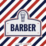 Barber Logo Label Maker Editable