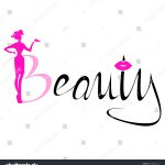 Beautiful Pink Silhouette Woman Beauty Logo Vector