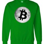 Bitcoin Cryptocurrency Fly Moon Logo Sweater
