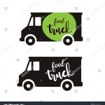 Blank Food Truck Logo Templates Pin Pinterest