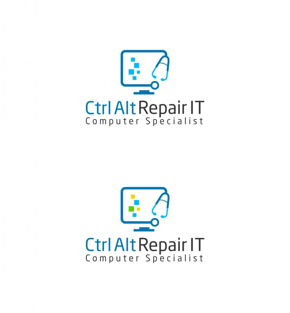 Bold Playful Business Logo Design Ctrl Alt Repair Computer Solutions