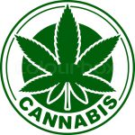 Cannabis Marijuana Green Vector Leaf Inscribed Circle Your Design Logo