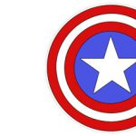 Captain America Logo Cut Out Printable