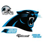 Carolina Panthers Logo Giant Officially Licensed Nfl Removable Wall