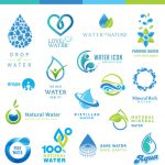 Creative Water Logos Design Vector Encapsulated Postscript