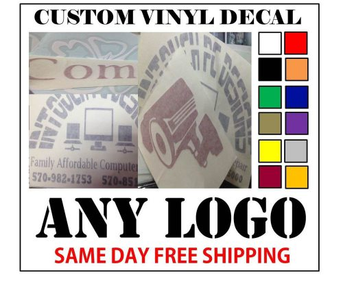 Custom Vinyl Decals Sticker Any Logo Fast Shipping