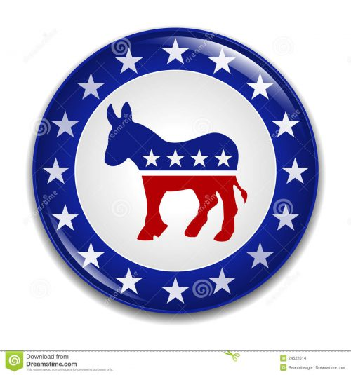 Democratic Party Logo Badge Editorial