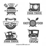 Different Food Truck Logo Collection Vector