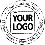 Dotted Border Self Inking Logo Stamp Simply