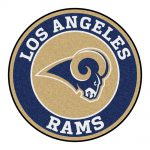 Fanmats Nfl Los Angeles Rams Navy Round Accent Rug Home