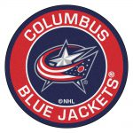 Fanmats Nhl Columbus Blue Jackets Red Round Accent