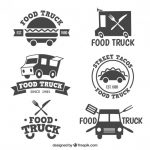 Food Truck Logo Collection Vector