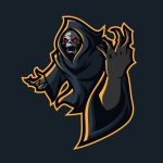 Grim Reaper Esport Gaming Mascot Logo Template Vector