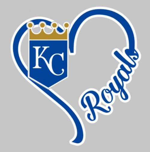 Heart Royals Window Decal Kansas City Baseball