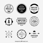 Hipster Flat Logo Collection