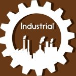 Industrial Logo Design Gear Plant Icons Style Vector Adobe