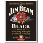 Jim Beam Black Logo Tin Sign Man Zone Gift Ideas Memorabilia Cave Supplies