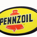 Large Pennzoil Single Sided Lexan Sign Bell
