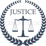 Law Firm Lawyer Office Symbol Scales Justice Framed Heraldic Laurel