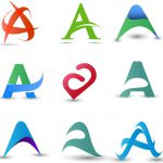Logo Design Elements Abstract Letter Vector Adobe