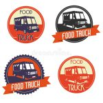 Logo Food Truck Vector Illustration