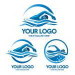 Logo Swimming Sport Vector Illustration