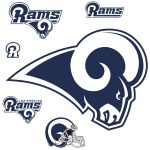 Los Angeles Rams Logo Giant Officially Licensed Nfl Removable Wall