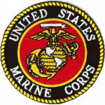 Marine Corps Logo Small Embroidered Round Military
