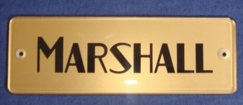 Marshall Block Logo Gold Plexi Amp Musical
