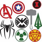 Marvel Superhero Logos Svg Dxf Files