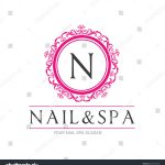 Nail Beauty Spa Logo Vector