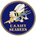 Navy Seabees Logo Pin Inches Shipping Orders Over