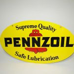 Nice Pennzoil Motor Oil Double Sided Tin Painted Garage