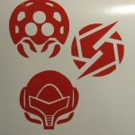 Nintendo Metroid Decal Pack Screw Attack Samus