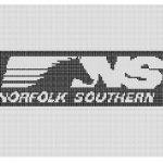 Norfolk Southern Logo Pattern Mancavestitches