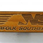 Norfolk Southern Railroad Logo Wooden Fridge Magnet