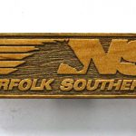 Norfolk Southern Railroad Logo Wooden Fridge