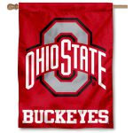 Ohio State Buckeyes Athletic Logo Banner Flag