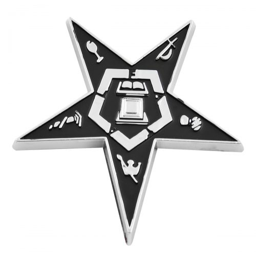 Order Eastern Star Black Chrome Finish Car Auto Emblem